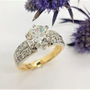 Yuki Mathwin, hand made jewellery, hand made engagement rings, diamond engagement ring, platinum engagement ring, yellow gold engagement ring