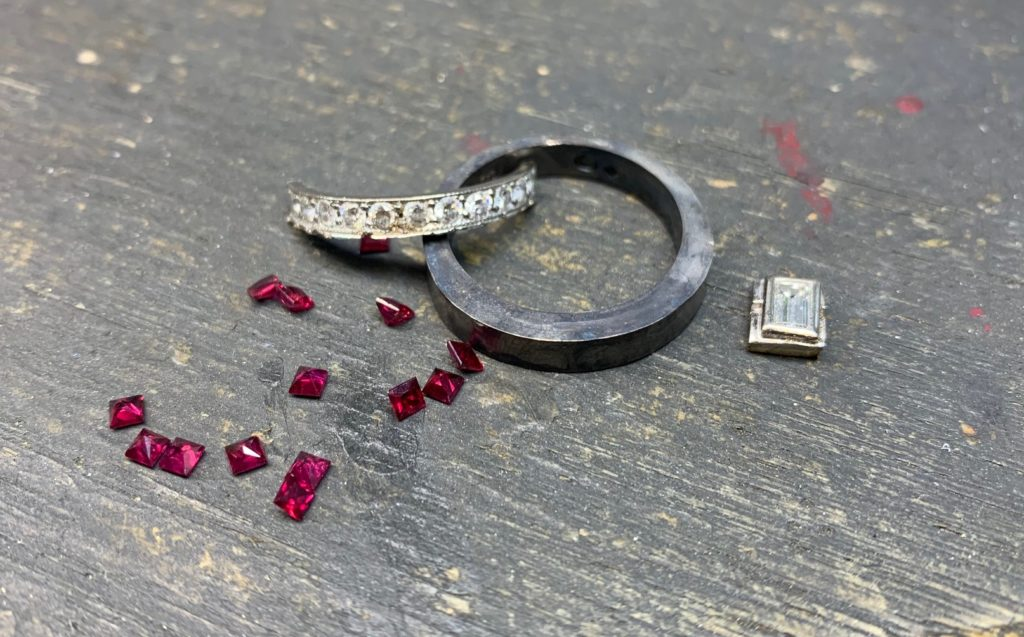 remodelling your jewellery, ruby ring remake, Abrecht Bird Jewellers