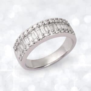 diamond, diamond ring, Abrecht Bird Jewellers, baguette diamond ring, multi diamond ring,