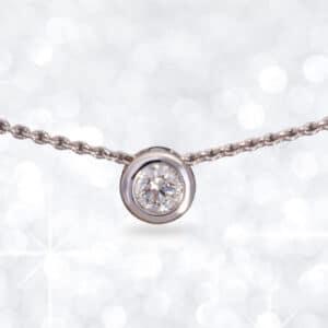 solitaire pendant, slider pendant, diamond pendant, white gold diamond pendant, diamond, pendant, Abrecht Bird Jewellers